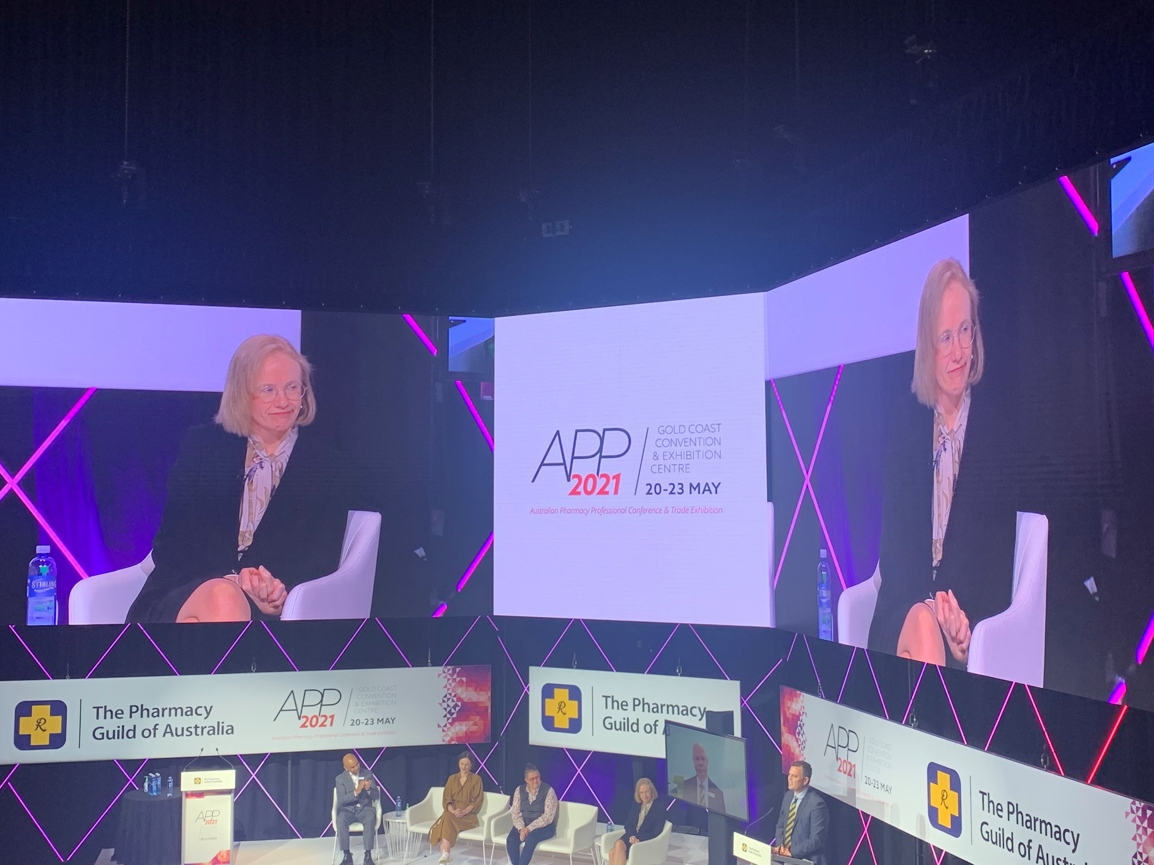 Dr Jeannette Young, Chief Health Officer of Queensland with panellists at APP2021